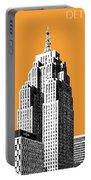 Detroit Skyline 2 - Orange Portable Battery Charger