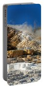 Devils Thumb At Mammoth Hot Springs Portable Battery Charger