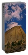 Devils Tower As A Volcano Portable Battery Charger