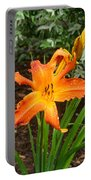 Dew Drops On Golden Lily Portable Battery Charger