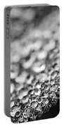Dew Drops On Leaf Edge Portable Battery Charger