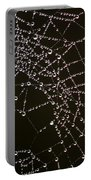 Dew Drops On Spider Web 4 Portable Battery Charger