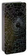 Dew Drops On Spider Web 5 Portable Battery Charger