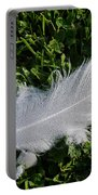 Dewy Swan Feather Portable Battery Charger