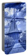 deZwaan Holland Windmill in Delft Blue Portable Battery Charger