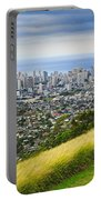Diamond Head And The City Of Honolulu Portable Battery Charger