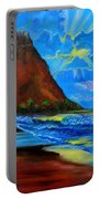 Diamond Head Blue Portable Battery Charger