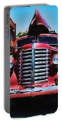 Diamond T Truck - Tomato Red Portable Battery Charger