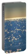 Diamonds On The Ocean Portable Battery Charger by Mariola Bitner