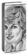 Diana - Princess Of Wales In 1981 Portable Battery Charger