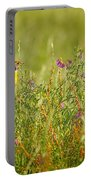 Dickcissel And Flowers Portable Battery Charger