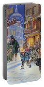 Dickensian Christmas Scene Portable Battery Charger by Angus McBride