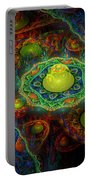 Digital Abstract Fractal Flame Art Portable Battery Charger