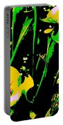 Digital Green Yellow Abstract Portable Battery Charger