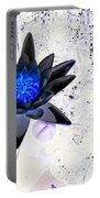 Digitally Altered Water Lily Portable Battery Charger
