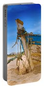 Dilapidated Boat At Ferragudo Beach Algarve Portugal Portable Battery Charger