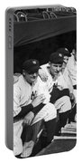 Dimaggio In Yankee Dugout Portable Battery Charger by Underwood Archives