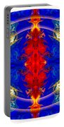 Dimensional Eyesight Abstract Living Artwork By Omaste Witkowski Portable Battery Charger