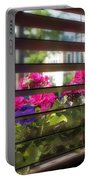 Diner Flowers Portable Battery Charger