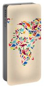 Dinosaur Map Of The World  Portable Battery Charger