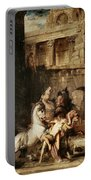 Diomedes Devoured By His Horses Portable Battery Charger