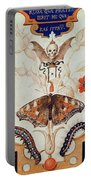 Diptych With Flowers And Insects Portable Battery Charger