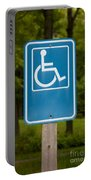 Disabled Parking Sign Portable Battery Charger