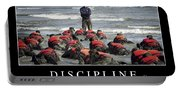 Discipline Inspirational Quote Portable Battery Charger