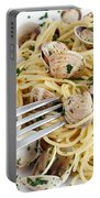 Dish Of Spaghetti With Clams Portable Battery Charger