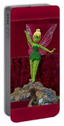 Disney Floral Tinker Bell 01 Portable Battery Charger by Thomas Woolworth