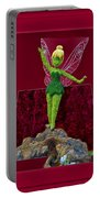 Disney Floral Tinker Bell 02 Portable Battery Charger by Thomas Woolworth