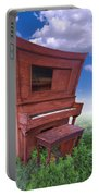 Distorted Upright Piano Portable Battery Charger
