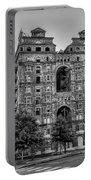 Divine Lorraine In Pain - Black And White Portable Battery Charger