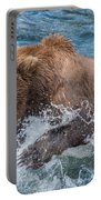 Diving For Salmon Portable Battery Charger