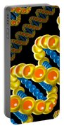 Dna Strand - Dna Strands Art - Genetics Genetic - Gene Genes - Conceptual - Square Format Image Portable Battery Charger