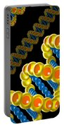 Dna Strand - Dna Strands Art - Genetics Genetic - Gene Genes - Conceptual - Abstract Illustration Portable Battery Charger