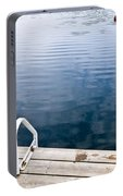 Dock On Calm Summer Lake Portable Battery Charger