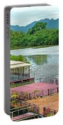 Docking Area On River Kwai In Kanchanaburi-thailand Portable Battery Charger