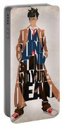 Doctor Who Inspired Tenth Doctor's Typographic Artwork Portable Battery Charger
