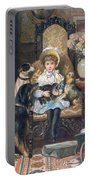 Doddy And Her Pets Portable Battery Charger by Charles Trevor Grand