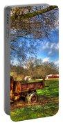 Dodge Dump Truck Farm Barn Scene Portable Battery Charger