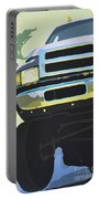Dodge Ram With Green Hue Portable Battery Charger