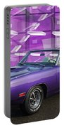Dodge Rt Purple Abstract Background Portable Battery Charger