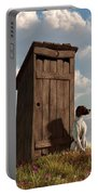 Dog Guarding An Outhouse Portable Battery Charger
