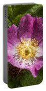 Dog Rose Textured Portable Battery Charger