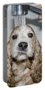 Dog Taking A Shower Portable Battery Charger