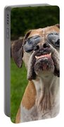 Dog Wearing Sunglass Portable Battery Charger by Stephanie McDowell