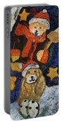 Doggie Xmas Stocking 03 Photo Art Portable Battery Charger