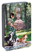 Dogs Lay At Her Feet Portable Battery Charger