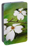 Dogwood Blossoms Portable Battery Charger